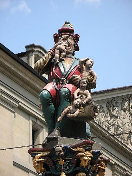 Kindlifresserbrunnen in Bern photo: Andrew Bossi; sculpture by Hans Gieng, ccbysa2.5