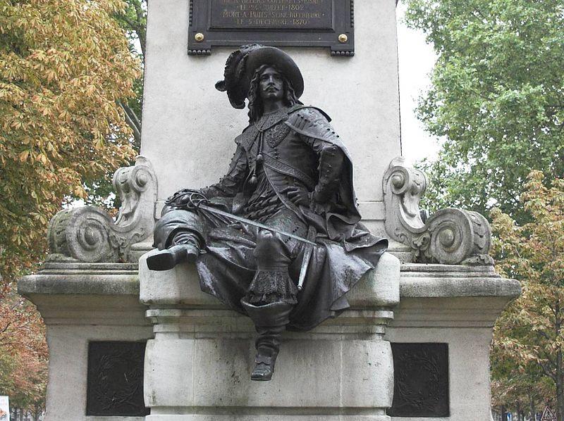 Statue d'Artagnan`s in Paris in der Komnstellation Schütze mit Widder photo: ignis, GFDL