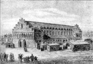 Sukiennice die Tuchhallen von Krakau im Jahr 1555
