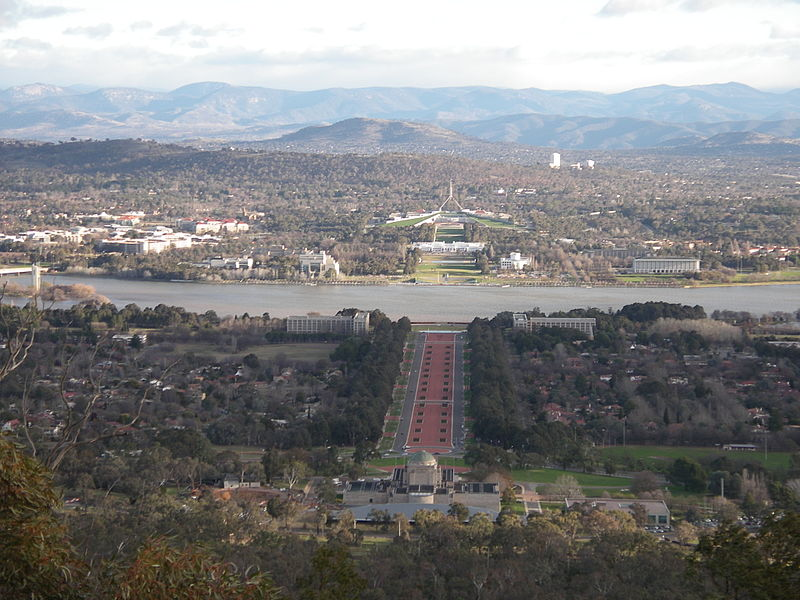 The astrogeographical position of Canberra