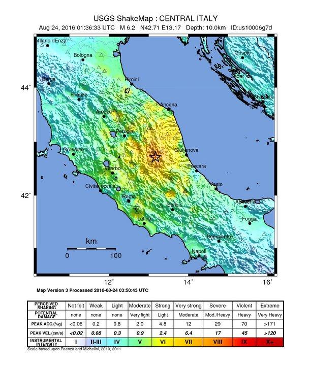 Erdbeben in Italien im 24. August 2016