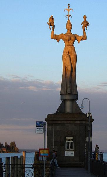 Imperia Statue located in Aquarius with Virgo