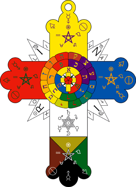 Rose Cross symbol according to Order of the Golden Dawn, ca. 1900