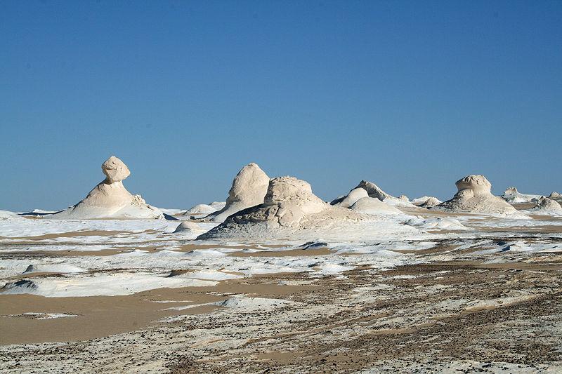 White Desert near Farafra located in Capriocrn with Gemini photo: Daniel Fafard, GNU/FDL
