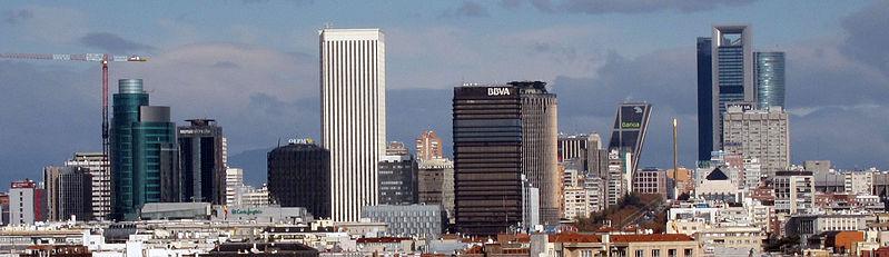 Madrid Skyline of Azca