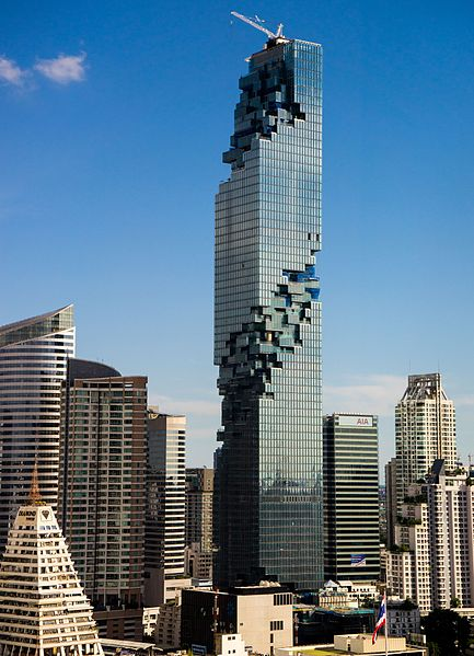 MahaNakhon skyscraper located right on the cardinal divide between Gemini & Cancer and 2nd coordinate in Libra photo: Kyle Hasegawa, ccbysa2.0