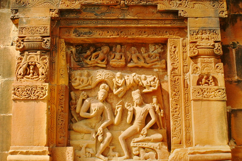 Depiction of Nara Narayana in Dasavatara Temple