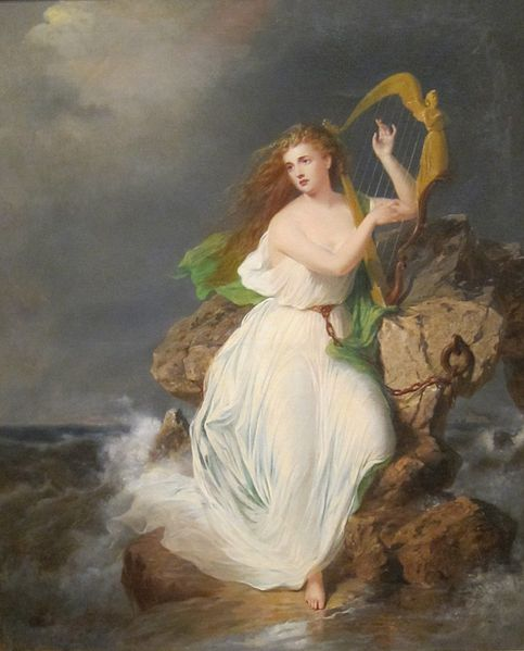 The Harp of Erin by Thomas Buchanan painted in 1867 photo: Wmpearl, ccbysa1.0