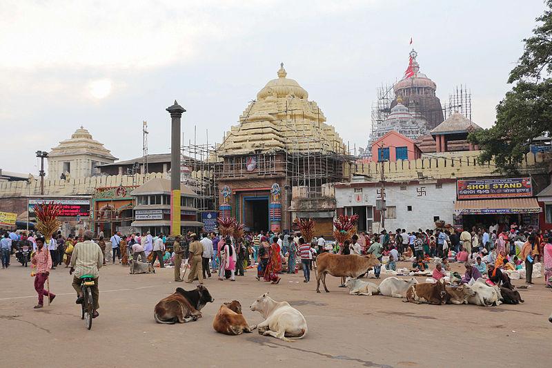 Jagannath Temple at Puri, Orissa located in Pisces with Aquarius photo: Bernard Gagnon, GNU/FDL