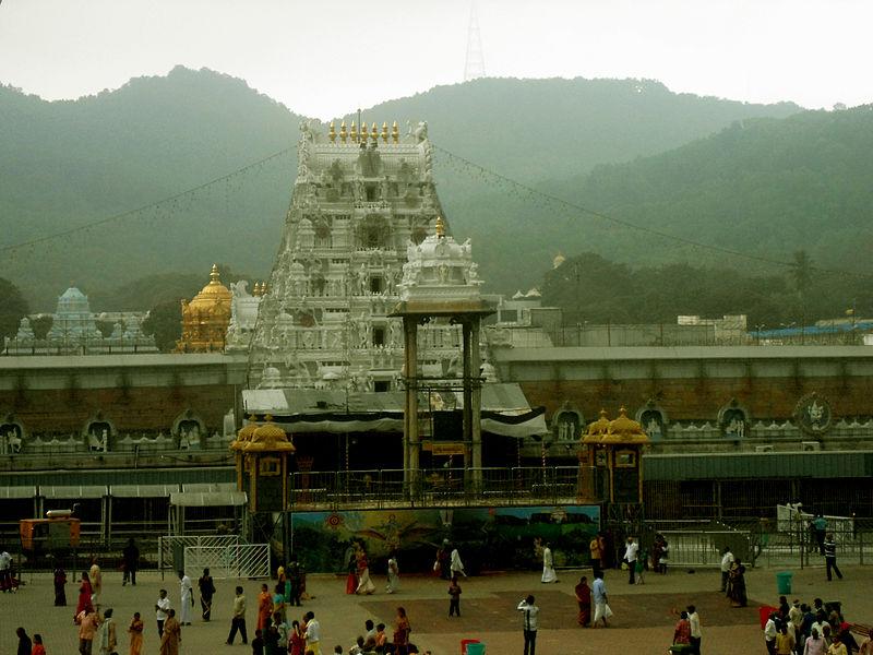 Venkateshwara Temple located in Virgo with Sagittarius photo: Adityamadhav83, ccbysa3.0