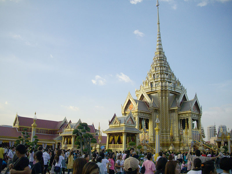 "The Royal Crematorium (""Phra Meru"") at Sanam Luang photo: Xiengyod GNU/FDL"