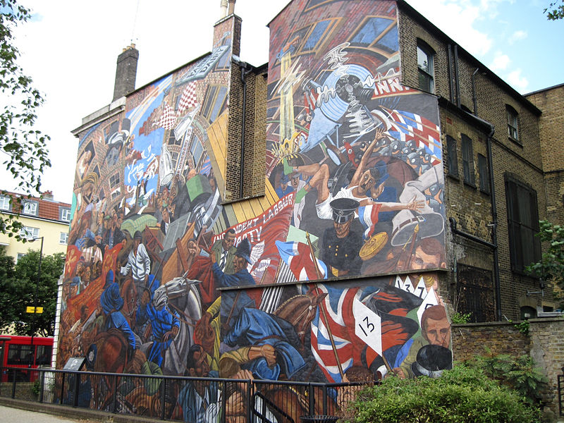 Pluto opposite London: The Battle of Cable Street