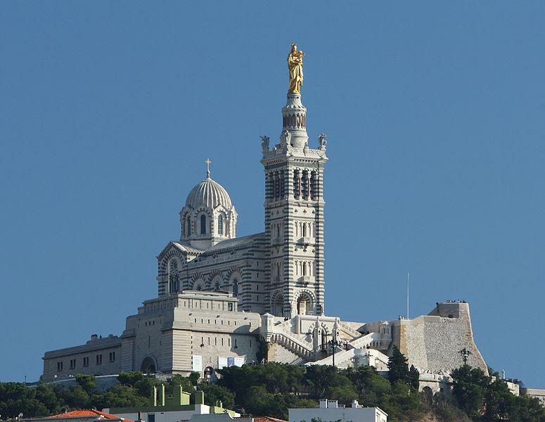 The Basilica Notre-Dame de la Garde in Marseille