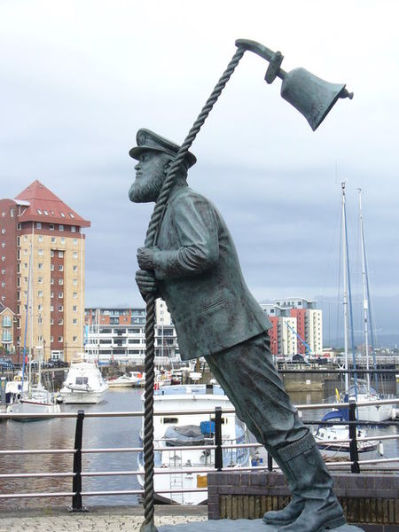 The Whimsical Statue at Swansea Marina