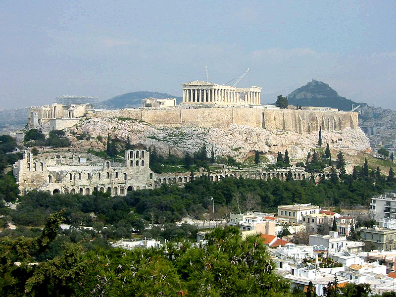 Wassermann und Jungfrau – das Parthenon der Akropolis von Athen