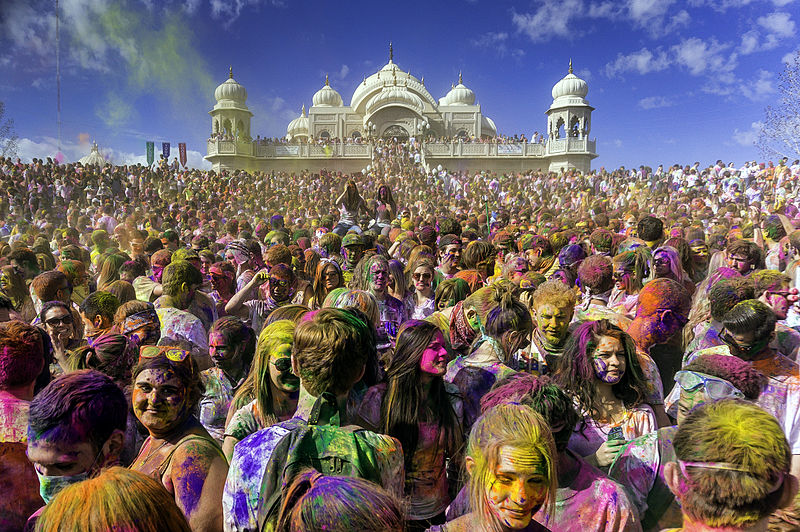 The astrology and astrogeography of the Holi festival of colours