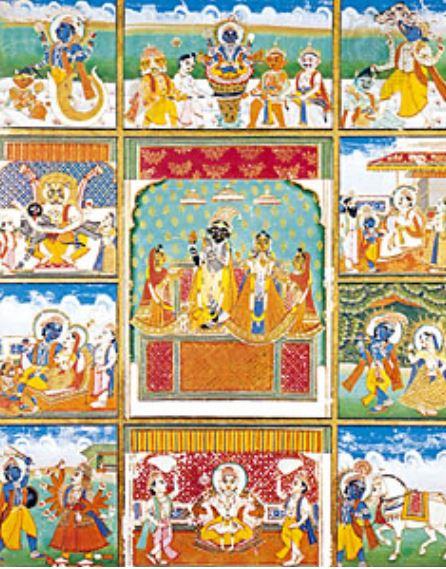 Vishnu, Krishna, Rukmini and Radha in astrology and astrogeography
