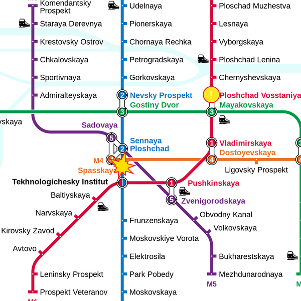 2017 Saint Petersburg Metro bombing in astrogeography