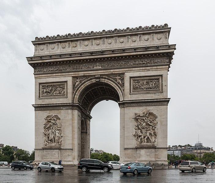 Astrologie und Astrogeographie: zwischen Schütze und Steinbock: de Arc de triomph in Paris