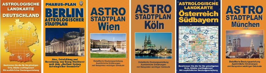 Astrogeographie: Astrologische Landkarten und Stadtpläne