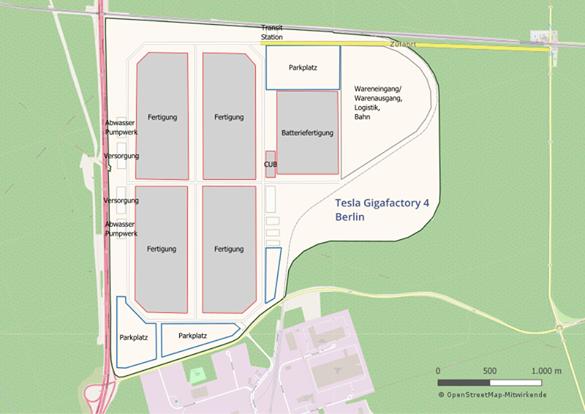 Astrologie und Astrogeographie  der Tesla Giga Factory bei Berlin