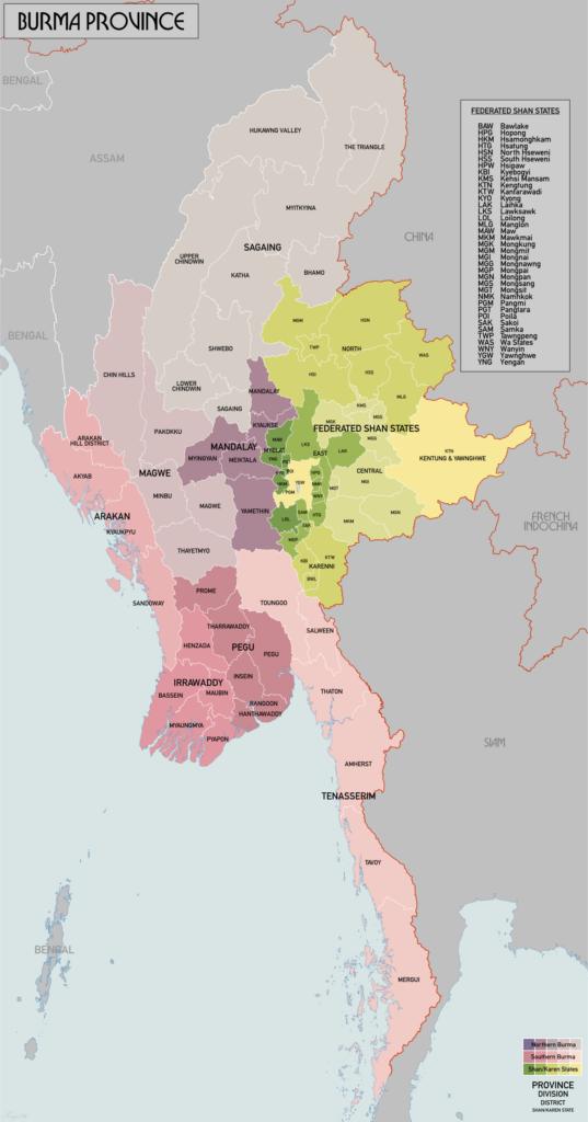 Astrology of Burma, Myanmar and British India