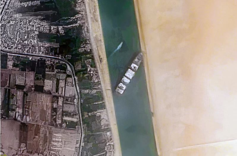 """The """"Ever Given"""" stuck in Suez Canal"""